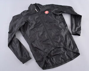 Castelli Lightweight Wind Jacket Men's Medium Black Full Zip Road Mountain Bike