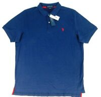 U.S. Polo Assn Luxury Feel Mens Navy Polo 100% Cotton Sizes S / L