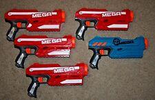 Nerf N-Strike Mega Magnus Lot 5 Party Pack Blaster Dart Gun Blue Elite Zombie