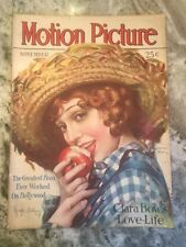 Motion Picture Magazine November 1928 Movie Stars Madge Bellamy On Cover