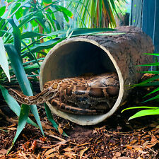 Hollow Hideaway 🌳 Large Tree Stump Reptile Hideout for Snakes & Critters