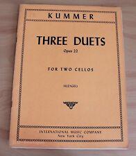 Kummer - 3 duos pour 2 violoncelles - Partition occasion