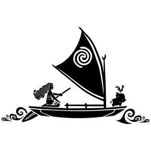 "8.5"" MOANA BOAT Vinyl Decal Sticker Car Window Laptop Disney Hei Hei Sail Ocean"