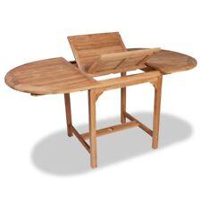#vidaxl Teak Outdoor Extendable Dining Table Garden Patio Furniture Picnic