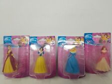 "Disney Princess Figurine 4 Piece Playset 3"" inch cake toppers toys"