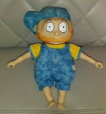 "VINTAGE 1997 VIACOM MATTEL THE RUGRATS TOMMY PICKLES BLUE OUTFIT W/HAT 11"" PLUSH"