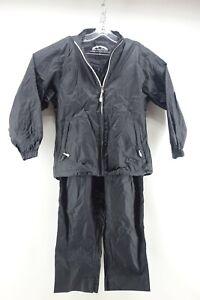 Sun Mountain Provisional Golf Black Rain Wind Suit Pants Jacket Women's Small