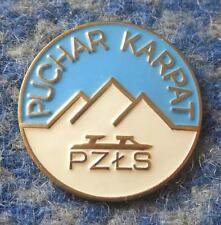 INTERNATIONAL KARPATY CUP POLAND FEDERATION SPEED SKATING 1980's PIN BADGE