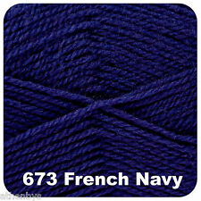 King Cole Big Value 4 Ply Knitting Wool Yarn 100g French Navy 673
