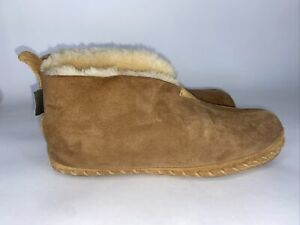 LL BEAN Men's Brown Ankle Booties Wicked Good Suede Slippers Size 12 M (F)