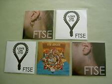 FTSE job lot of 5 promo CD album/singles Joyless Tidal Wave II Love Un Ltd