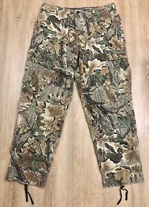 RedHead Men's Camouflage Adjustable Drawstring Hunting Pants w/ 4 Pockets Size L