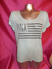 Victorias Secret PINK FLAG MINT GREEN Low Back Top/Swim Coverup XS/S  NWT