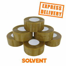 72 ROLLS CLEAR SOLVENT CARTON SEALANT 48MM X 150M * BIG TAPE *
