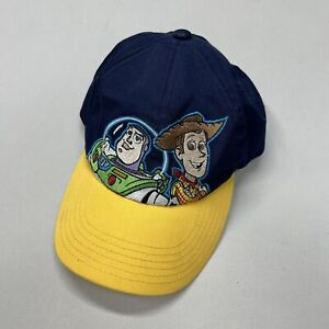 Vintage 90s Cap Disney World Pixar Toy Story 2 Buzz & Woody Snapback Youth Hat