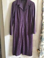 VINTAGE JEANIE PURPLE JERSEY ZIP FRONT PURPLE DRESS Size 16