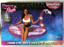Aqua Flash By Aqua-Leisure Pool Float Light Up Metallic Flamingo W/ LED Lights