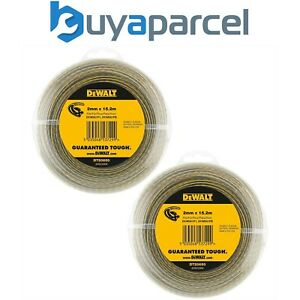 2x Dewalt DT20650-QZ Line Trimmer Wire 2mm 15.2m Dewalt DCM561 DCM561P1 DCM561PB