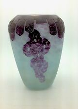 Le Verre Francais cameo glass vase. Signed Charder France