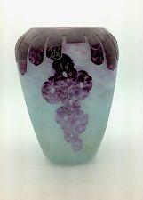 Le Verre Francais cameo glass vase. Signed Charder France