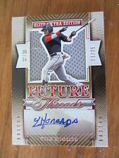 2015 ELITE EXTRA EDITION YOAN MONCADA FUTURE THREADS AUTO #11/25 - ULTRA-RARE