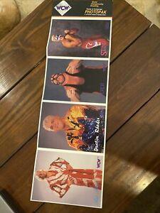 WCW Photopak World Championship Wrestling Photocards Pack Of 4