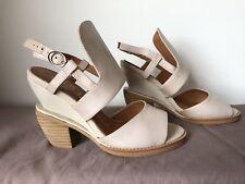 Jeffrey Campbell Leather Size 7 AU High Heels Sandals Platforms Nude Flesh Color