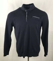 Ted Baker Jumper Mens XL Polo Neck Long Sleeved Sweatshirt Cotton Sz 5