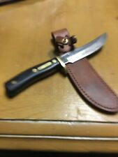 SCHRADE WALDEN USA DUCKS UNLIMITED 165 FIXED BLADE HUNTING KNIFE WITH NEW SHEATH