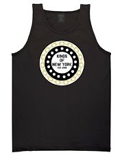 Kings Of NY Gold Chain New York Logo Graphic Tee Sleeveless Tank Top Shirt