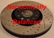 Audi A4 2.0 3.2 Drilled Slotted Brake Rotors Harmonically Balanced Front F+R