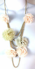 FLORAL CHUNKY MULTI LAYER SUMMER NECKLACE COLORFUL UNIQUE (ST57)
