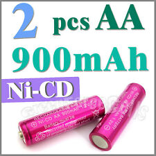 2 pcs AA 900mAh Ni-Cad Cd Solar Light rechargeable battery Rose
