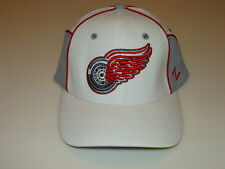 2012-13 Zephyr Detroit Red Wings NHL Hockey Flex Fit Hat Cap Cut Up White Youth