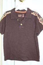 Baby Gap ~ Boys Short Sleeved Brown Hawaiian shirt  ~ Size 4  EUC