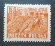 POLAND STAMPS MNH 2Fi639 ScB69A Mi777- Mining, 1952, **, SŁANIA, SLANIA