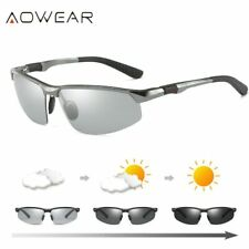 AOWEAR HD Men's Photochromic Polarized Sunglasses Men Polarized Chameleon