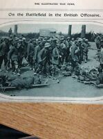 74-3 Ephemera Ww1 1916 Picture Somme German Pows British Dressing Station