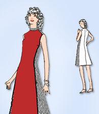 1970s Original Vintage Spadea Designer Pattern 70142 Misses A-Line Dress Sz 31 B
