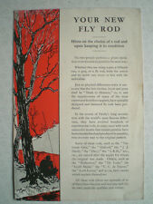 """Uno scarso Hardy Pubblicità pamplet """"il tuo nuovo Fly Rod"""""""