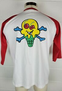 Billionaire Boys Club Ice Cream Bones & Cones 3/4 Sleeve Baseball T-Shirt XL