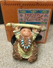 Enesco Friends of the Feather (Indian w/ Bear Fetish) - Bears Great Wisdom w Box