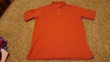 Eddie Bauer Travex men's burnt orange polo shirt size M EXCELLENT