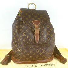 LOUIS VUITTON MONTSOURIS GM Drawstring Backpack Purses Monogram M51135 Brown
