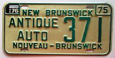 New Brunswick 1976 ANTIQUE AUTO License Plate NICE QUALITY # 371