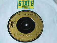 """MAC & KATIE KISSOON - LIKE A BUTTERFLY - STATE RECORDS 7"""""""