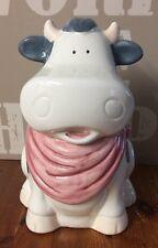 GRANDE Mucca in ceramica Biscotti Dolci Cookie Jar