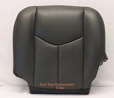 2003 2004 2005 006 Chevy Avalanche Silverado Driver Bottom  Seat Cover Dark Gray