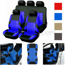 Universal Full Set 5 Head Car Front Rear Seat Covers Bench Cushion Protectors