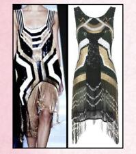 RIVER ISLAND Dress Geometric Aztec Beaded Fringe Ivie Dress Flapper Sequin Dress